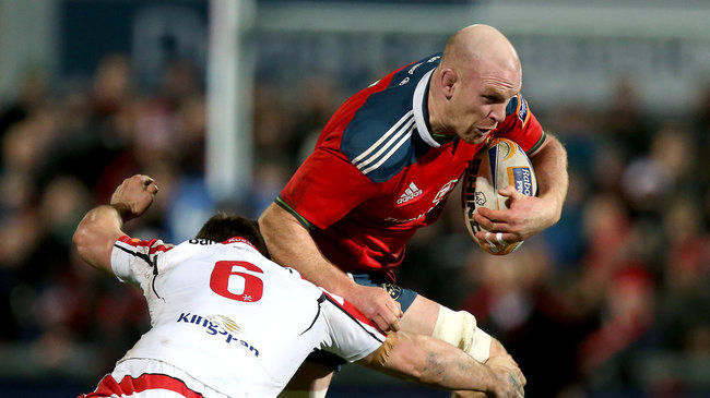 Paul O'Connell in action for Munster
