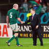 USA head coach Eddie O'Sullivan is pictured congratulating man-of-the-match Paul O'Connell on the 12-point win for Ireland