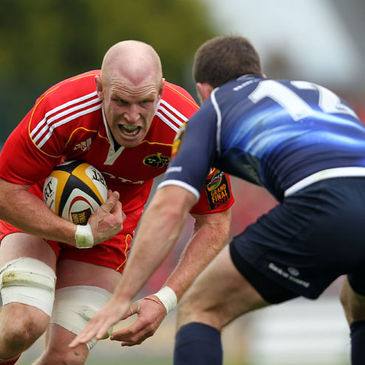 Munster captain Paul O'Connell makes a carry