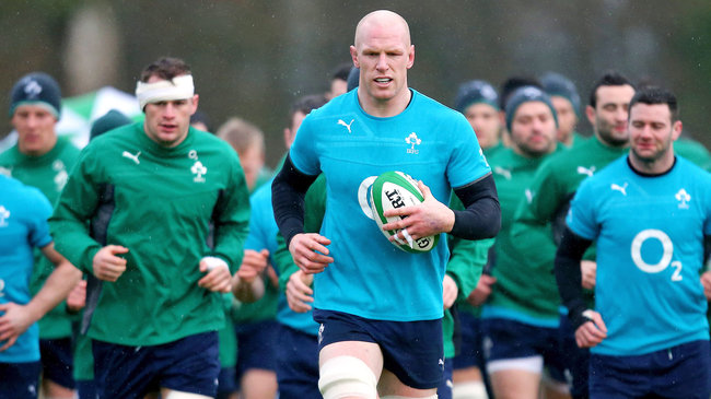 Ireland Squad Training Session At Carton House, Maynooth, Wednesday, January 29, 2014