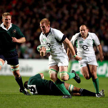 Paul O'Connell on the charge against South Africa in November 2006