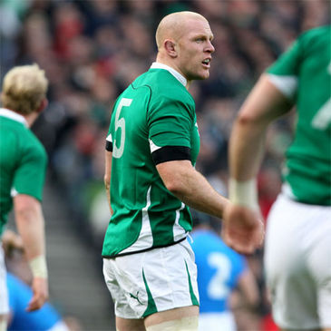 Paul O'Connell in Six Nations action for Ireland