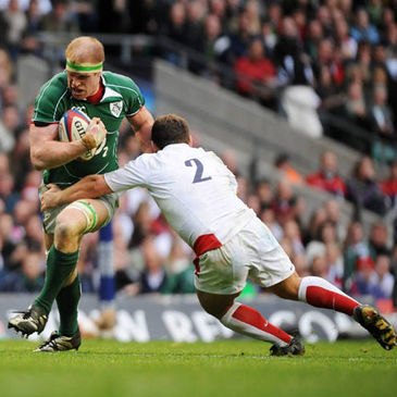 Paul O'Connell in action against England