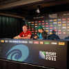 After training, Paul O'Connell and defence coach Les Kiss gave their thoughts to the assembled media at a pre-match press conference