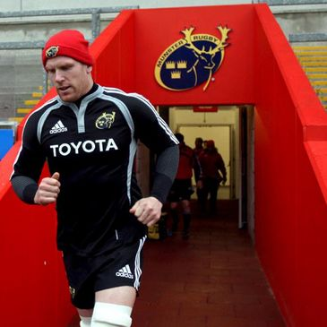 Paul O'Connell heads out for training at Thomond Park