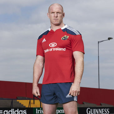 Paul O'Connell in the new Munster home kit