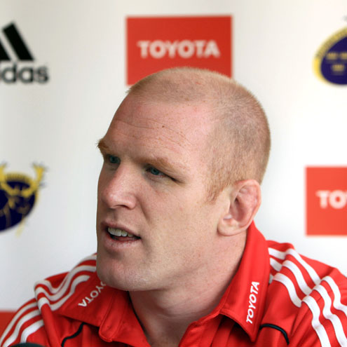 Munster captain Paul O'Connell