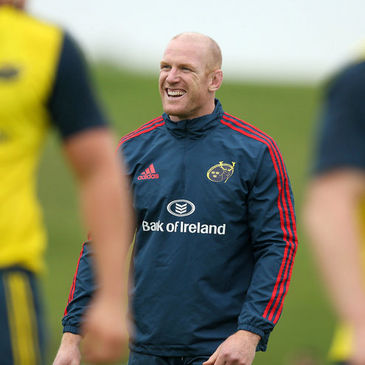 Paul O'Connell during a training session in Limerick