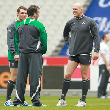 Paul O'Connell with Peter O'Mahony and Anthony Foley