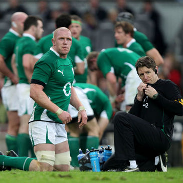 Ireland lock Paul O'Connell with strength and conditioning coach Paul Pook