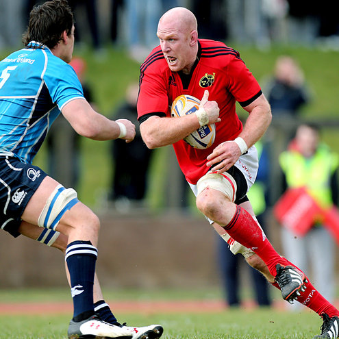 Paul O'Connell in action for Munster 'A'