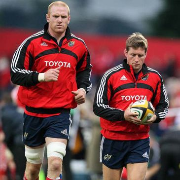 Munster's Paul O'Connell and Ronan O'Gara