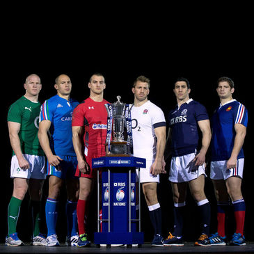 The captains line up at the Six Nations launch