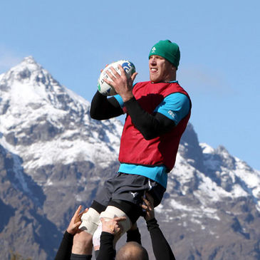 Paul O'Connell gathers a lineout ball in Queenstown