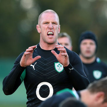Paul O'Connell trained with the Irish squad on Monday and Tuesday