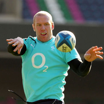 Paul O'Connell training with the Ireland squad