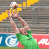 Munster captain Paul O'Connell stretches for a lineout ball during Tuesday's training session at the Limerick venue