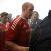 Ronan O'Gara and Paul O'Connell head for the warmth of the dressing room after helping Munster grind out a 16-9 victory