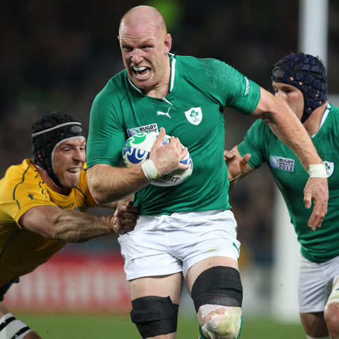 Paul O'Connell on the charge for Ireland