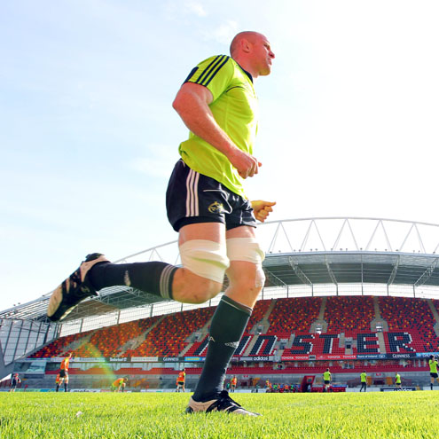 Paul O'Connell training at Thomond Park
