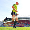 Munster captain Paul O'Connell is pictured warming up as Tony McGahan's men prepare for Saturday's Amlin Challenge Cup semi-final against Harlequins