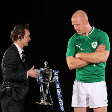 Paul O'Connell with the RBS 6 Nations trophy