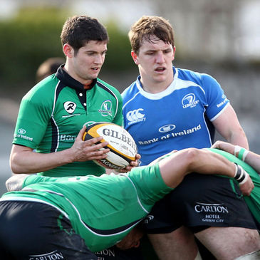 Paul O'Donohoe alongside Connacht scrum half Cillian Willis