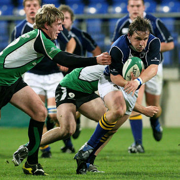Leinster 'A' captain Paul O'Donohoe is tackled by the Connacht cover