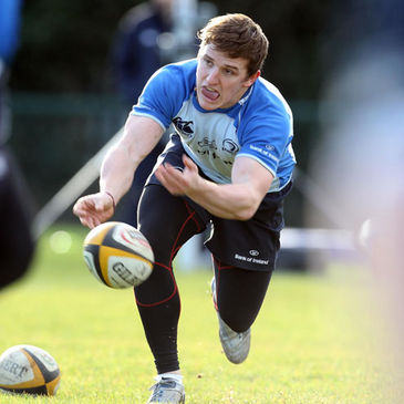 Paul O'Donohoe training with the Leinster squad