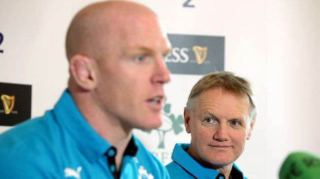 Ireland's Paul O'Connell and Joe Schmidt