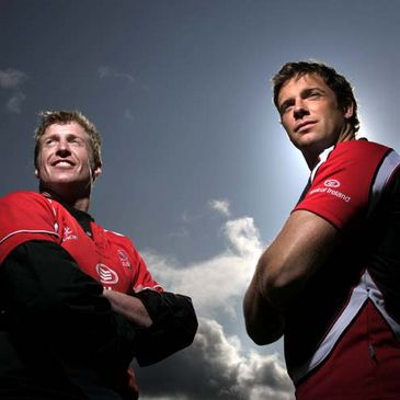 Ulster's Paul Steinmetz and Bryn Cunningham