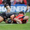 Paul Warwick's try was his third in five Heineken Cup games - he scored twice in the pool stages against Sale Sharks