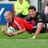 With confirmation of the grounding from TMO Geoff Warren, Paul Warwick's score helped Munster move into a 13-6 lead