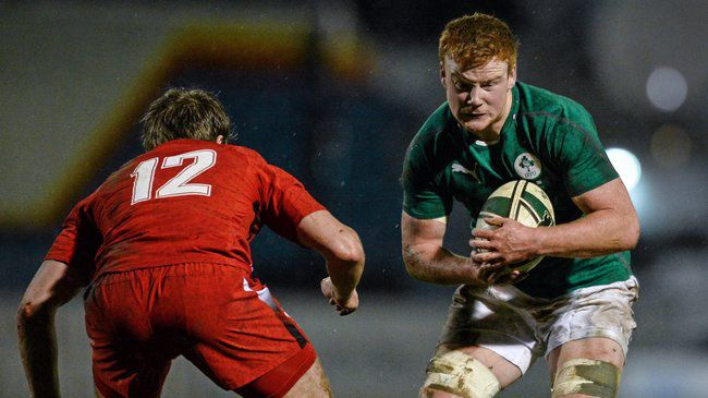 Peader Timmins in action against Wales earlier this year