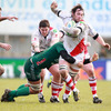 South African back rower Pedrie Wannenburg had a starring role for Ulster in their final pool win, scoring a brace of tries