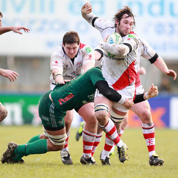 Two-try hero Pedrie Wannenburg in action against Aironi
