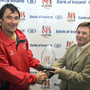 After the game, Springbok back rower Pedrie Wannenburg received the man-of-the-match award from Bank of Ireland's Pat Byrne