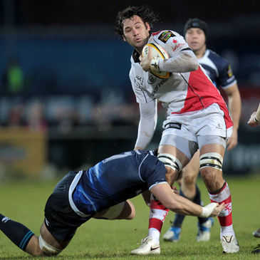 Ulster's Pedrie Wannenburg in action against Leinster