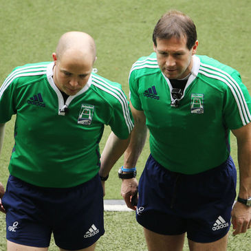 IRFU international referees Peter Fitzgibbon and Alain Rolland