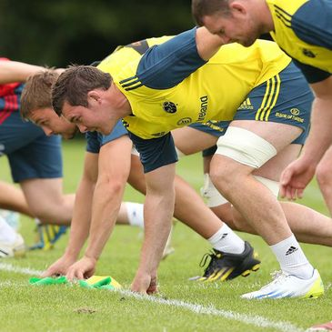 Munster captain Peter O'Mahony in pre-season training