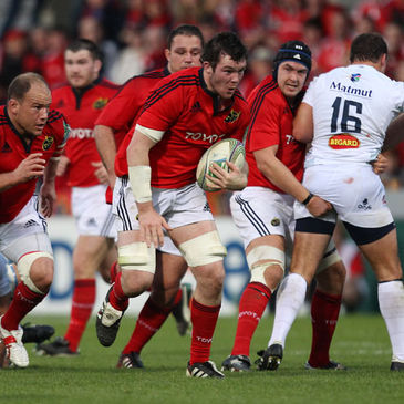 Peter O'Mahony in Heineken Cup action for Munster