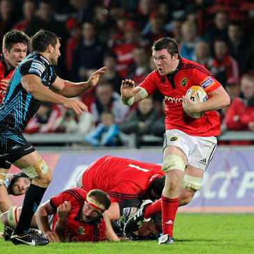 Peter O'Mahony in action for Munster