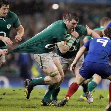 Peter O'Mahony in action for Ireland