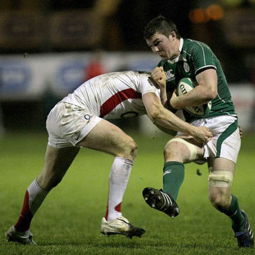 Peter O'Mahony in action during the Under-20 Six Nations