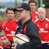 Ulster's defence coach Peter Sharp sets the scene for the players, including Isaac Boss, Robbie Diack and David McGregor