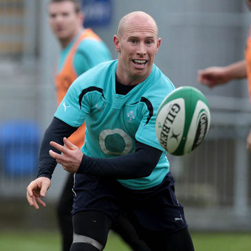 Peter Stringer in training for the game against Samoa