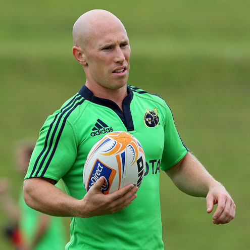 Peter Stringer is back in the Munster squad