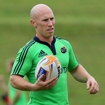Peter Stringer training with the Munster squad