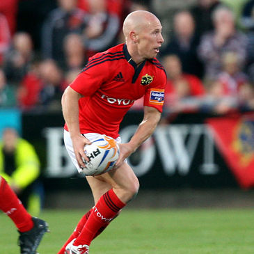Scrum half Peter Stringer in action for Munster