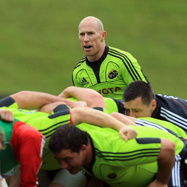 Peter Stringer at Munster's training session on Wednesday